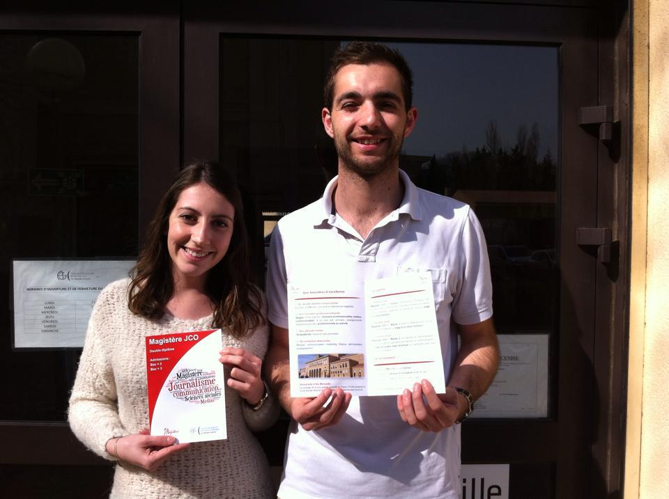Olivia Rizzo et Nicolas Rinaldi, responsables de la mission communication du Magistère