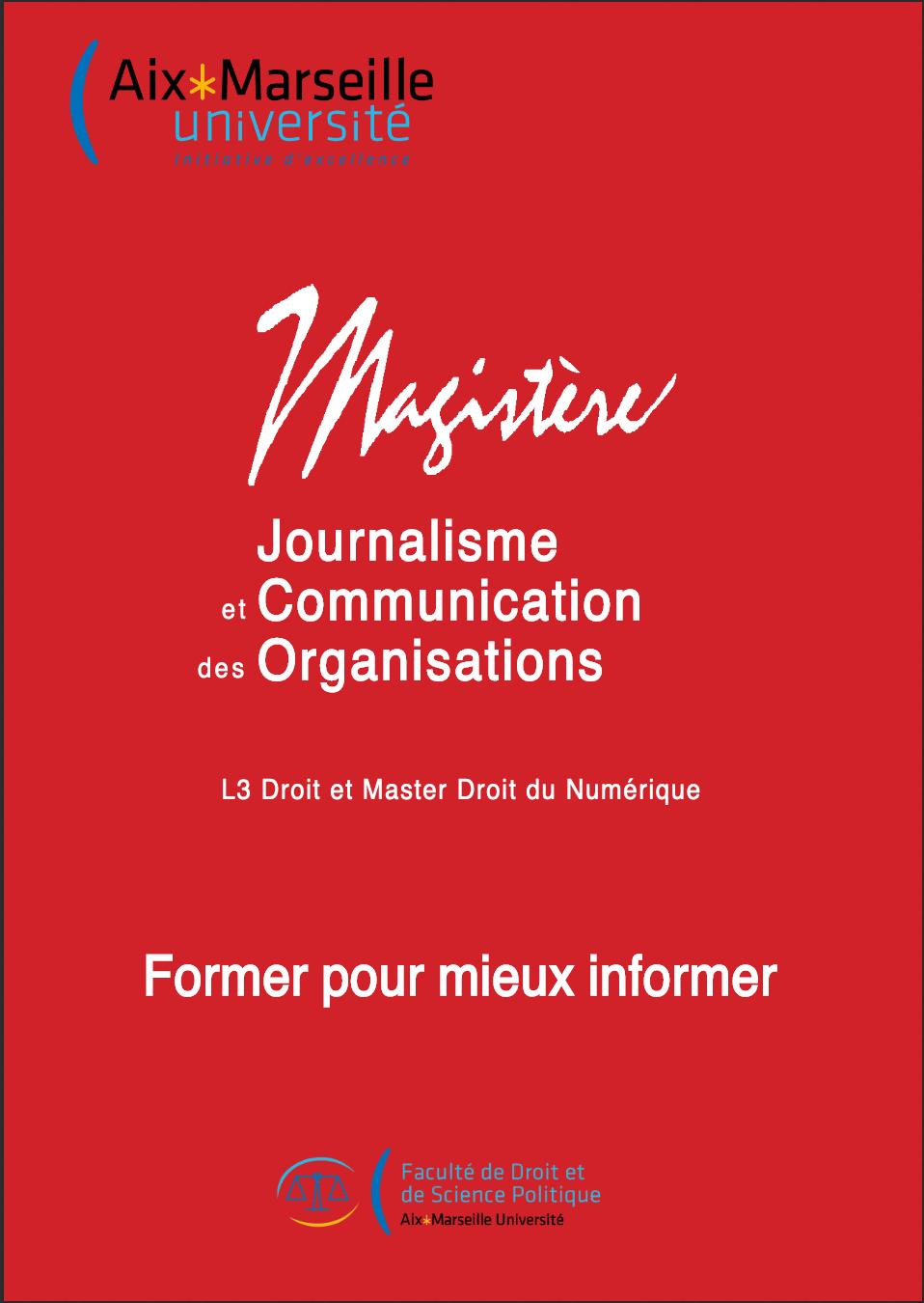 Image de la plaquette du Magistère JCO