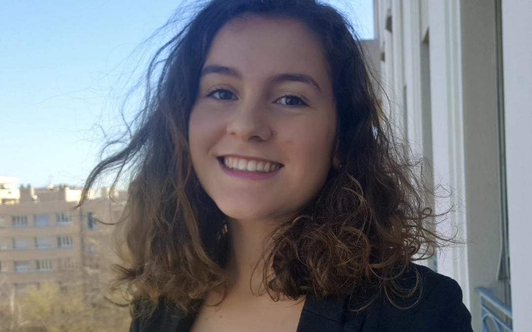 Bérénice Meunier, étudiante en 2ème année du Magistère DJC